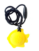 chubuddy Chewable Fish Pendant chewie, non-toxic material-lemon