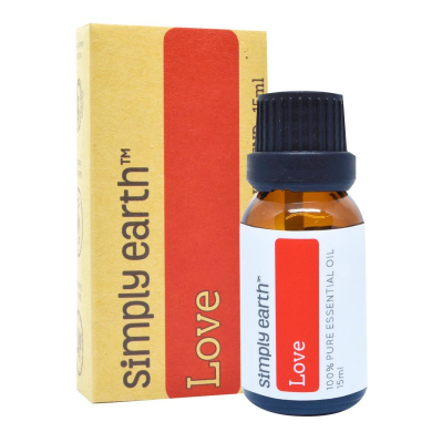 Love Essential Oil Blend by Simply Earth - 15ml, 100% Pure Therapeutic Grade