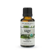 Dr. Mercola Organic Sage Essential Oil - 30ml