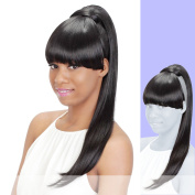 BP-LOUI (Vivica A. Fox) - Heat Resistant Fibre Ponytail in DARK BROWN
