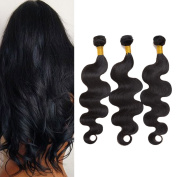 CUTE Hair 6A Unprocessed Brazilian Virgin Hair Body Wave Human Hair Bundles 3 Bundles Deal Remy Human Hair Natural Black