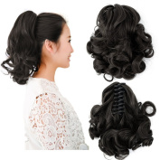 Beauty Angelbella New Popular Women Medium Long Curly Claw Jaw Ponytail Clip On Hair Extensions Hairpiece