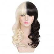 SiYi Black Women's Melanie Martinez Fashion Celebrity Hair Synthetic Fibre Wigs