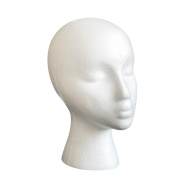 Head Model, Hatop Styrofoam Foam Mannequin Female Head Model Dummy Wig Glasses Hat Display Stand