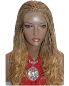 Best-Selling Braided Lace Front Wig Micro Braids Colour 27/4 Synthetic Lace Front Wigs