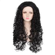 SiYi Anime Movie Moana maui Long Curly Black Wig for Mens Halloween Cosplay Costume Wigs