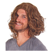 B-G New Fashion Men's Shoulder curly Layered Wig High Heat Resistant Wigs Human Hair Wigs Natural Looking Wigs+ 1 Free Wig Cap WIG134