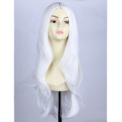 RightOn 70cm Women Girls Long Wavy Synthetic Wigs for Costume Play Party with Wig Cap
