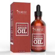 Purest Naturals Moroccan Argan Oil - 100% Pure - Dry Skin Beauty Care for Hair, Face & Nails - The Anti Ageing, Anti Wrinkle Beauty Secret - Grade Triple A Extra Virgin Cold Pressed