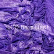 100pc No Crease Knotted Hair Ties - Solid Colour Packs