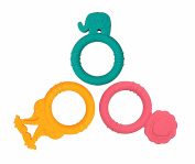 Marcus & Marcus Silicone Baby Teethers 3 Pack, Ollie the Elephant, Marcus the Lion, Lola the Giraffe