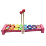 QiMiaoBaBy Xylophone Musical Toys with 8 Notes Wooden Caterpillar Development Musical Instrument Kids Children Toy