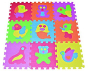 Zoo Puzzle Play Mat 9-tile EVA Foam Rainbow Floor by Poco Divo, Model
