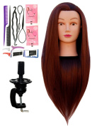 Zvena Beauty 80cm Cosmetology Mannequin Manikin Training Head Synthetic Fibre with Clamp - PATTY