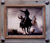 8x10 Hobble Creek Barnwood Picture Frame with Large Accent Tacks