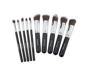 Dermatique Silver Makeup Brush Set, Beauty Blending, Face Powder, Blush Brushes Perfect for Use as Bronzer Brush, Concealer Brush, Contour Brush, Cosmetic Brush, Foundation Brush,etc.