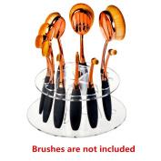 Crystal Acrylic Oval Makeup Brush Shelf 10 Hole Cosmetic Brush Drying Rack Organiser Cosmetic Holder Tool