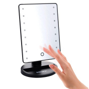 [New Version] [Adjustable Brightness] EnPassion 16 LED Makeup Vanity Mirror with Lights and Tray