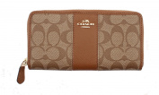 Coach Women's Wallet Signature PVC & Leather Zip Around F52859