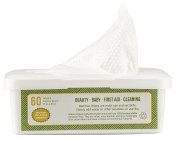 Nature's Dawning 100% AUTHENTIC Bamboo Wipes, Dry Multi-Purpose Wipes, 18cmx20cm- 60 Sheet 70 gsm Tub