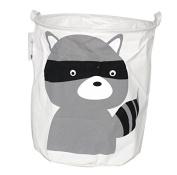 Premium Decor Fabric Foldable Canvas Laundry Basket Hamper Toy Nursery Room Closet Storage Bin Bag Tote