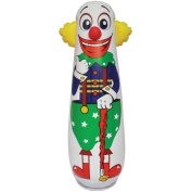 Old Style Clown Punching Bag - Inflatable Bounce Back Toy, Model