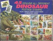 45 Genuine Postage Stamps Assortment - Dinosaurs, Model