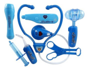 Doctor Nurse Blue Medical Kit Playset for Kids - Pretend Play Tools Toy Set, Model