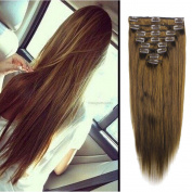 FUT Womens Full Head Huamn Hair Extensions Clip on Thick