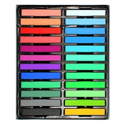 ImagineLife 24 Colours Hair Chalk Set Non-Toxic Rainbow Blendable Pastels Temporary Edge Chalkers - Lasts up to 3 Days, No Mess