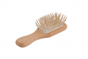 Bürstenhaus Redecker Maple Pin Pocket Hairbrush with Waxed Beechwood Handle, 11cm