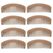 Xuanli 8Pcs Natural Wooden Tooth Beard and Hair Combs Set For Men and Women