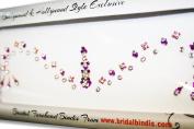 Indian Bridal Bindi Purple & Violet Colour & authentic Crystals