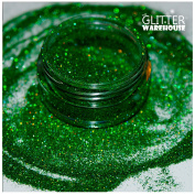 GlitterWarehouse Holographic Glitter for Eyeshadow / Eye Shadow Shimmer Makeup Green Envy