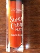 Jordana Sweet Cream Matte Liquid Lip Colour 15 twisted tangerine