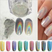 Holographic Rainbow Nails Effects Ultra Fine Chrome Powder Pigment Polish H88