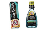 Arm & Hammer Truly Radiant Oral Care Bundle -Truly Radiant Whitening & Strengthening Mouthwash and Toothpaste