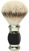 GOLDDACHS Shaving brush, 100% Silver Tip Badger hair, black/silver,
