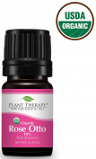 Rose Otto ORGANIC Essential Oil. 5 ml. 10% Diluted, 100% Pure, Therapeutic Grade.