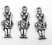 Set of Three (3) Silver Tone Pewter Toy Soldier Charms