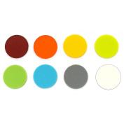 2.5cm - 1.3cm Circle Rainbow Assortment Fusible Pre-Cut 8 Pack - 96 COE