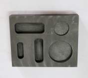 OTOOLWORLD Graphite Ingot Mould 1/4 1/2 30ml Gold Melting Casting Refining also silver with Bar Coin Combo mould