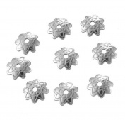 50PCs Stainless Steel Beads Caps Jewellery Findings DIY 7x1.5mm