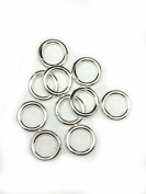 10 Sterling Silver Round Open Jump Rings 12.1mm 12 Gauge by Craft Wire
