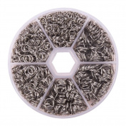 PandaHall Elite 304 Stainless Steel Split Rings Double Loop Jump Ring Outer Diameter 5-8mm 1 Box for Jewellery Making