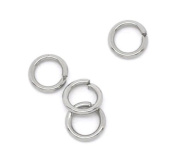 500 Stainless Steel Open Jump Rings 5mm Dia. Findings