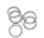 500 Stainless Steel Open Jump Rings 7mm Dia. Findings