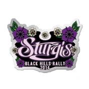 2014 Sturgis Motorcycle Rally Hand Painted Ladies Pin