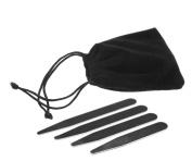 40x Collar Stays Stiffeners Stainless Steel For Men Women Dress Shirt silver+Bag