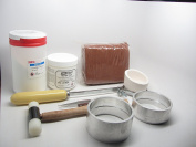 Delft Clay Sand Deluxe Casting Kit Crucible Borax Powder Gold Silver Copper 100mm Ring Frames